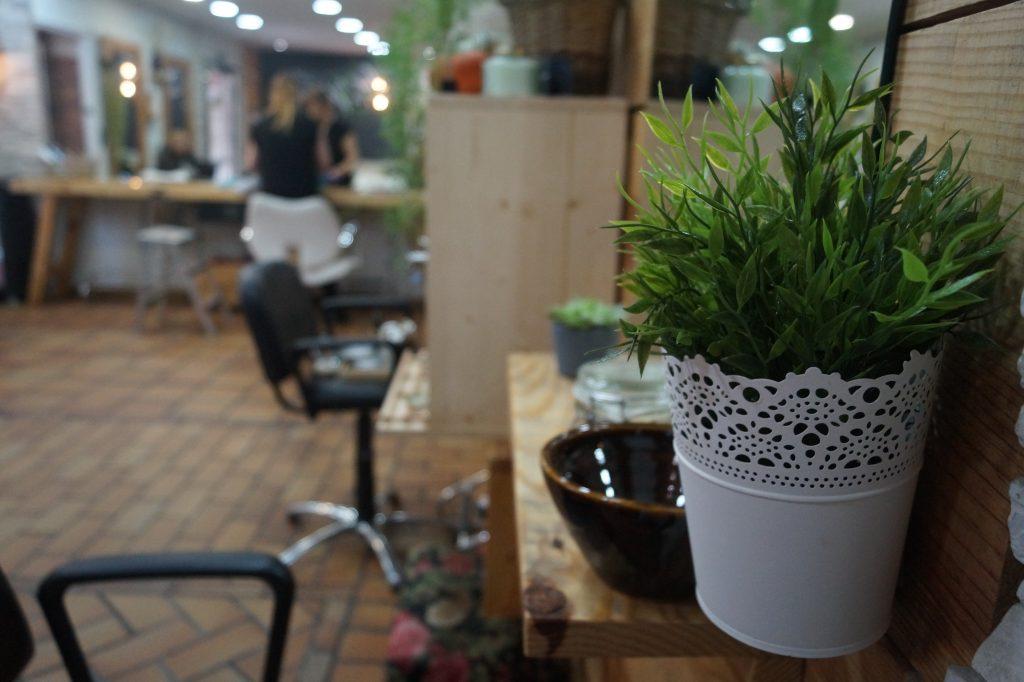 interior peluquería ecológica Valderrós