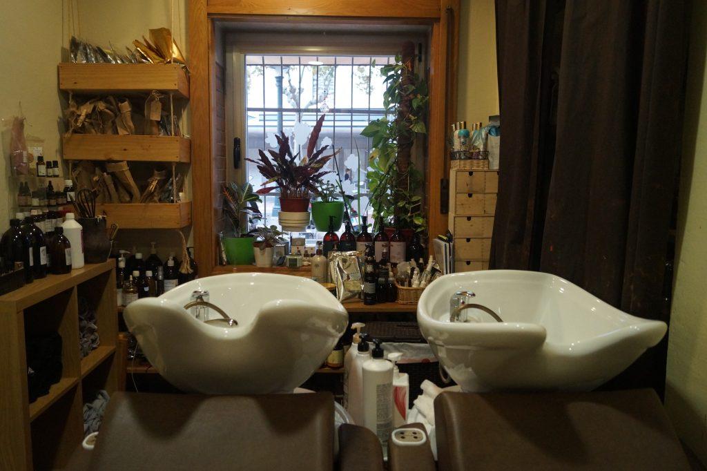 Sala de tratamientos peluquería ecológica Valladolid